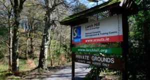 The man said the first incident of alleged sexual assault took place in a tent at the Scouting Ireland national scout centre at Larch Hill, Tibradden, south Co Dublin, when he was a 12-year-old scout. Photograph: Cyril Byrne