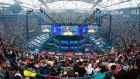 Crowds attending the 2019 Fortnite World Cup Finals  at Arthur Ashe Stadium, in New York City.  Photograph: Getty Images