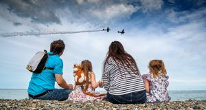 The White family watch Bray Air Display. Photograph: Marc O'Sullivan