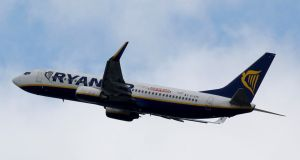 Ryanair said profit after tax was €243m for the three months to June 30th. That was down 21%  from €309m  a year earlier, but ahead of analysts' predictions which had forecast a profit of €232m.  Photograph: Regis Duvignau/File Photo/Reuters