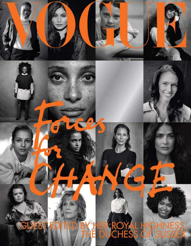 September issue: Sinéad Burke with her 14 fellow Forces for Change. Photograph: Peter Lindbergh/Vogue