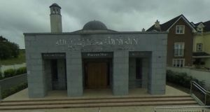 Locks and windows were broken during the attack on the mosque in Galway. Photograph: Google Maps