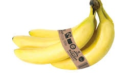 Lidl's Fairtrade bananas are wrapped in a biodegradable brown band.