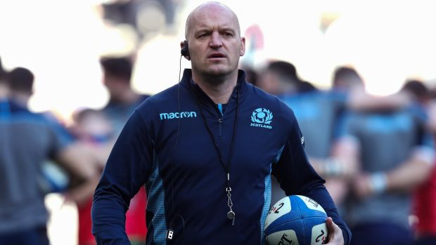 Finn Russell Scotland boss Gregor Townsend. Photograph: Billy Stickland/Inpho