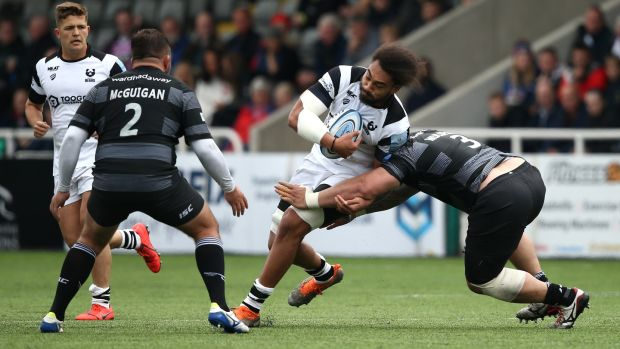 Samoa captain Chris Vui carries for club side Bristol Bears. Photograph: Jan Kruger/Getty
