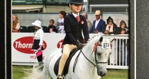 Emma Burchill making her debut at the Dublin Horse Show at the age of eight in 2017.