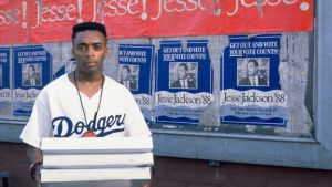 Director Spike Lee plays Mookie, a pizza deliveryman