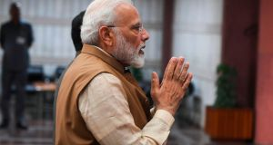 "Indian prime minister Narendra Modi: terror legislation introduced by his nationalist BJP party accused of ""opening the floodgates to harassment of human rights defenders and activists"" by Amnesty International. Photograph:  Prakash Singh/AFP/Getty Images"