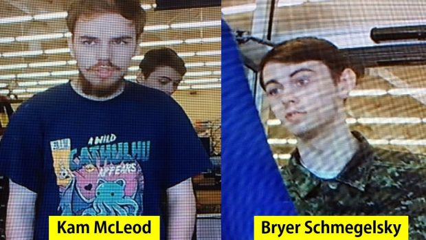 Kam McLeod (19) and Bryer Schmegelsky (18) from Port Alberni, British Columbia, are considered main suspects in the killing of three people. Photograph: Alberta RCMP/AFP/handout /Getty