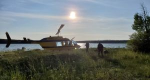 Royal Canadian Mounted Police continue their search for Kam McLeod and Bryer Schmegelsky near Gillam, Manitoba, Canada on July 28th. Photograph: Manitoba RCMP/Handout via Reuters