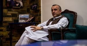 Amrullah Saleh, who is running for vice-president of Afghanistan, at his home in Kabul on Monday. Photograph: Jim Huylebroek/The New York Times