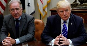 Representative Richard Neal (L) said Congress, and not the US president, writes trade agreements. Photograph: Reuters/Jonathan Ernst