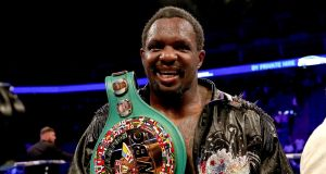 Dillian Whyte was cleared to fight in his WBC heavyweight bout with Oscar Rivas despite an adverse finding in a drugs test. Photograph: PA