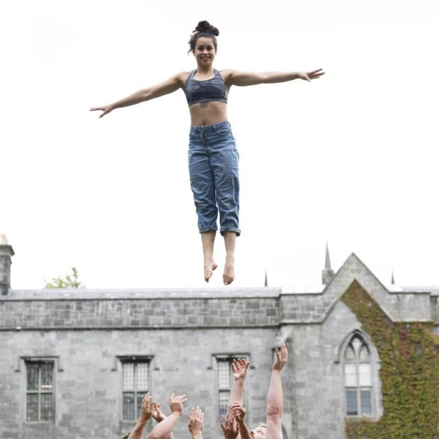 Galway International Arts Festival: Mieke Lizotte of Gravity & Other Myths. Photograph: Andrew Downes/Xposure