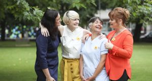 Louise O'Brien, corporate social responsibility manager, Boots Ireland; Averil Power, chief executive, Irish Cancer Society; Mary Attridge-Jones, night nurse; and Teresa Mannion, Night Walks for Night Nurses ambassador. Photograph: Conor McCabe