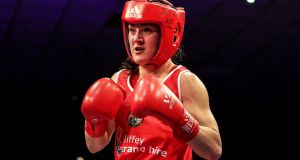 Kellie Harrington will not fight at the European Championships in Spain due to a hand injury. Photograph: Laszlo Geczo/Inpho