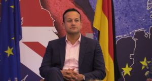 At the MacGill summer school, Taoiseach Leo Varadkar said moderate unionists would look at rising British nationalism and consider a united Ireland. Photograph: Michael McHugh/PA Wire