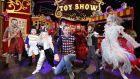 Presenter Ryan Tubridy on the set of The Late Late Toy Show 2018 with some of its young stars.  Photograph: Nick Bradshaw