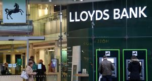 Shares in Lloyds fell as much as 5.3% in London, the largest fall since the week of the Brexit vote in 2016. Photograph: Reuters