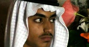 Hamza bin Laden pictured at his wedding. Photograph:  Associated Press