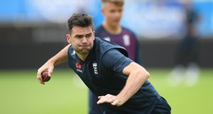 England's James Anderson returns to the fold for today's opening Ashes Test at Edgbaston. Photograph: Stu Forster/Getty
