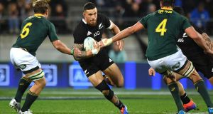 New Zealand's Sonny Bill Williams in action during the Rugby Championship draw with the Springboks. Photograph: Marty Melville/AFP/Getty