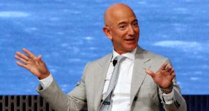Jeff Bezos: following this week's sales,  his remaining Amazon stock holdings are worth about $109 billion. Photograph: Reuters