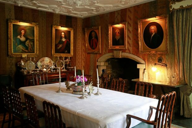 Huntington Castle: the diningroom. Photograph: Nick Bradshaw