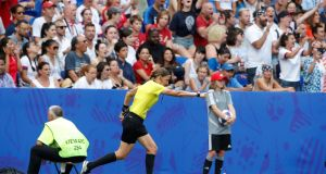 Stephanie Frappart awards a penalty in the Women's World Cup final. Photograph: Reuters