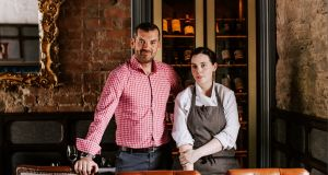 Chef Danni Barry with Ronan Sweeney of Balloo Inns in the gastro-pub group's new restaurant, Overwood, in Killinchy