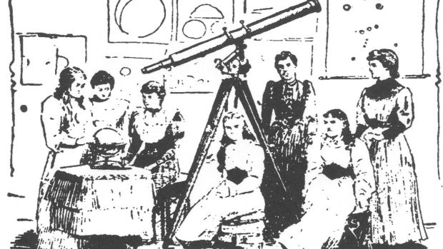 Rose O'Halloran's astronomy class San Francisco Chronicle 1894. Courtesy of San Francisco Public Library.