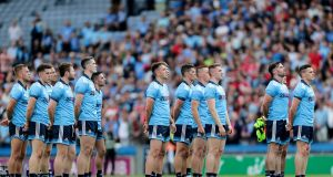 In five games so far this summer, a core group of 10 Dublin players have started every game. The average age of the team that beat Roscommon a fortnight ago was 27.7. Brian Howard was the only player under 25 in the side. Photograph: Laszlo Geczo/Inpho