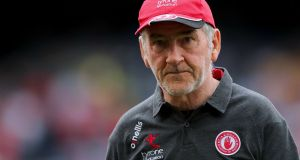 Mickey Harte's Tyrone welcome All-Ireland champions Dublin to Omagh on Sunday. Photograph: James Crombie/Inpho