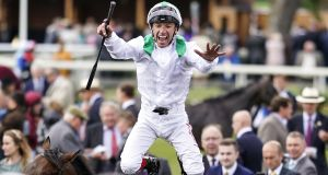 Frankie Dettori won his 12th Group One of the season at Deauville. Photograph: Alan Crowhurst/Getty