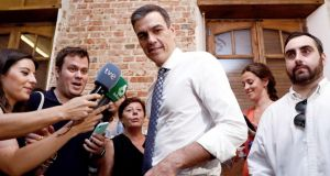 Socialist Party leader Pedro Sánchez last week failed to win the Spanish parliament's support as prime minister. Photograph: Mariscal/EPA