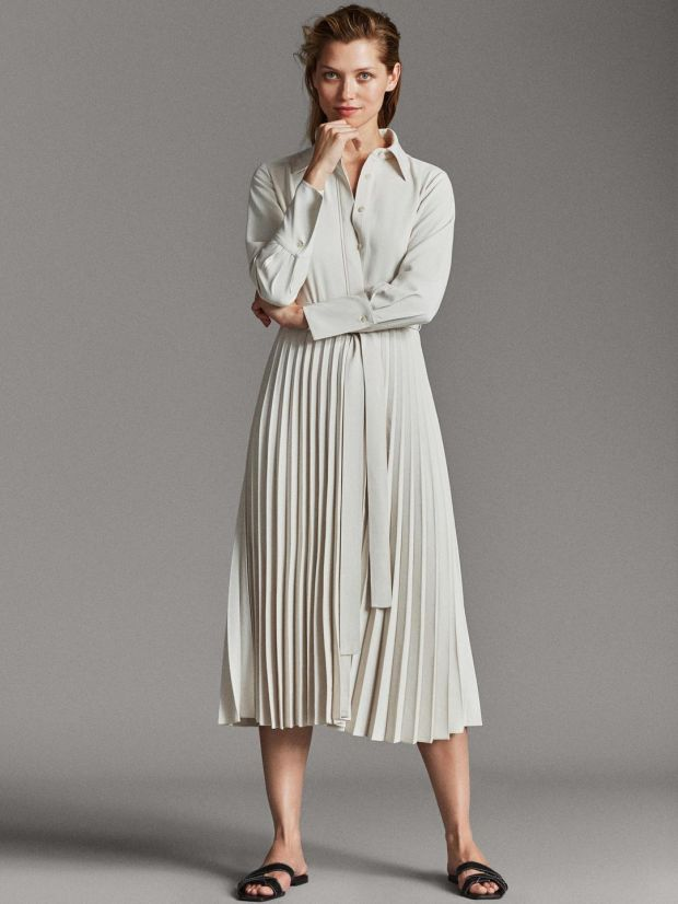 Shirt dress €149, Massimo Dutti