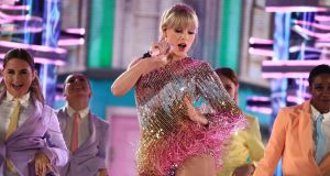 Universal Music Group artist Taylor Swift performing earlier this year. Photograph: Christopher Polk / NBCU via Getty Images.