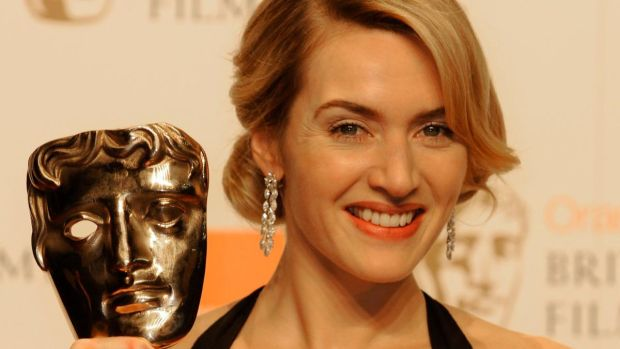Kate Winslet on February 8th, 2009, after winning a Bafta for her performance in The Reader, which would also win her an Oscar. Photograph: Toby Melville/Reuters