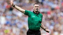 Referee James Owens during the All-Ireland hurling quarter-final between Kilkenny and Cork. Photograph: Inpho