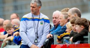 Tipperary Senior Hurling Open Training Session, Semple Stadium, Thurles, Co. Tipperary 31/7/2019 Tipperary manager Liam Sheedy speaks to fans  Mandatory Credit ?INPHO/Tommy Dickson
