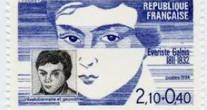 A French stamp honouring Évariste Galois.