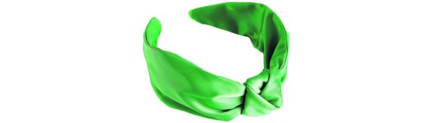 Green satin knot hairband ?19 from +OtherStories