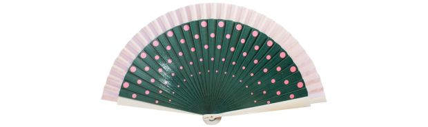 Green polka dot fan Fern Fans ?89