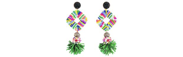 Multicoloured beaded earrings 59 sterling Uterque