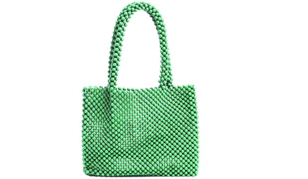 Green beaded handbag by Missguided ?30