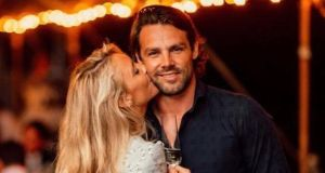Wedding day: Ben Foden with his new wife, Jackie Belanoff Smith. Photograph: Ben Foden/Instagram