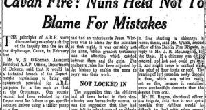 The Irish Times article on April 28th, 1943.