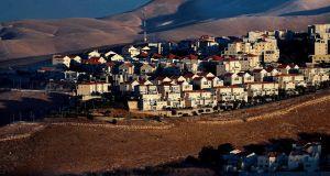 Israeli settlement of Maale Adumim in the occupied West Bank on the outskirts of Jerusalem: most of the international community considers such settlements illegal. Photograph: Ahmad Gharabli/AFP