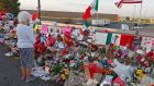 Makeshift memorial for the victims of the mass shooting at a Walmart in El Paso, Texas: law enforcement doesn't necessarily wish to have platforms or social media sites excluding all offensive content or users. Photograph: Larry W Smith