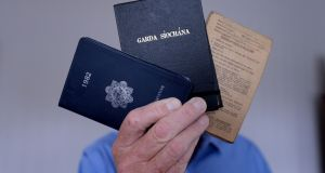'Liam' kept his Garda notebooks from the 1980s. Photograph: Alan Betson